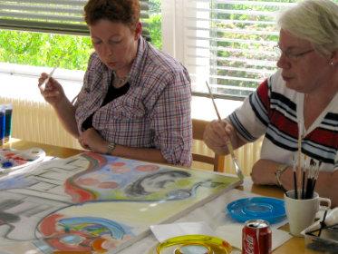 Workshop schilderen met acryl